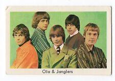 1960s Swedish Film Star Card Swedish Garage and Beat Group Ola & The Janglers