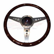 "New 15"" Wood Steering Wheel & Adapter Triumph TR4 TR250 TR6 1"" Thick Rim"