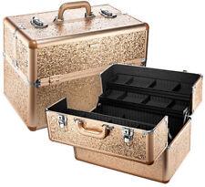 Sephora Collection Sparkle & Shine Large Traincase Gold Glitter SOLD OUT!! NIB