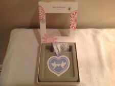 """Wedgwood """"Christmas Blue Our 1st Christmas"""" Ornament - Heart Shaped 2016"""