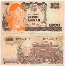 Indonesia 1000 Rupiah P#110a (1968) Bank Indonesia VF