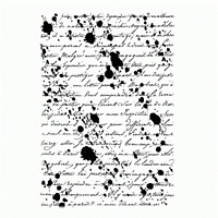 Crafty Individuals INKY SCRIPT BACKGROUND Unmounted Red Rubber Stamp