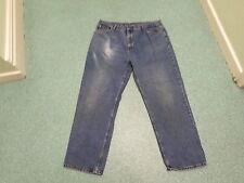 "George Classic Fit Jeans Waist 42"" Leg 31"" Faded Dark Blue Mens Jeans"