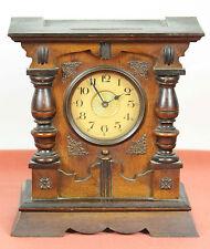 TABLEAU HORLOGE EN BOIS. MACHINES PARIS AVEC BOÎTE À MUSIQUE. XIX-XXE SIECLE