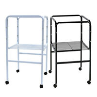 Bird Cage Stand Tubular Steel with Shelf Casters for 40x 40cm Base Flight Cages