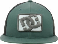 DC Shoes The Classics by Yupoong Green Black Passport Trucker Snapback Hat Cap