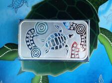 2009 Perth Mint Turtle Dreaming Australia Proof Silver Art Bar P2106