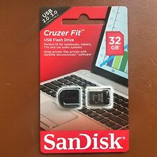 NUOVO 32GB SanDisk Cruzer Fit Chiavetta USB Pen Drive Flash Per MAC WIN 7 8 10