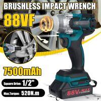 """88VF 520Nm 1/2"""" Avvitatore a Impulsi a batteria Elettrico Trapano + 1/2 Batteria"""