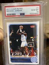 2011-12 Fleer Retro Michael Jordan Card #1 PSA GEM Mint 10 Graded POP 56
