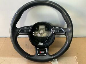 Audi A5 S Line Multi Function Leather Steering Wheel With Airbag.