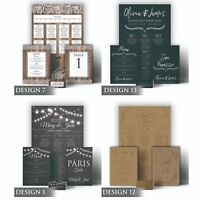 Personalised Wedding Seating Plan Chart Planner Table Plans Matching Stationary