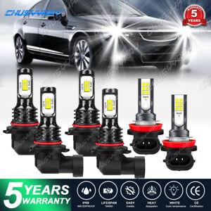 9005 9006 H11 LED Combo Headlight Fog Light Kit  Bulb For 04-07 Buick Rainier