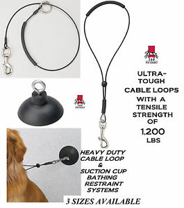 "HEAVY DUTY Dog PET Grooming""HOLD EM""RESTRAINT SUCTION CUP,HOOK&LOOP Noose SYSTEM"