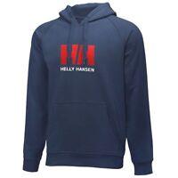 """HELLY HANSEN Men's Fleece HOODIE Hooded Sweatshirt NAVY BLUE HH Logo SMALL 40"""""""