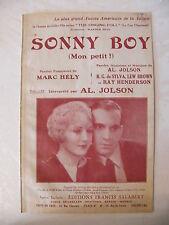 Partition Sonny Boy Al Jolson