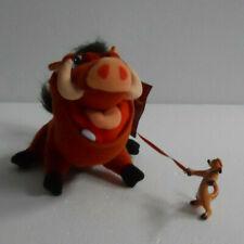 Disney Lion King Pvc Meerkat Timon Riding Plush Wart Hog Pumbaa Stuffed Animal