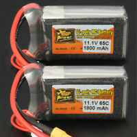 2X Rechargeable 3S 11.1V 1800mAh 65C Lipo Battery for RC Drone Car Truck Boat