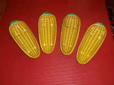 Four Vintage Plastic Corn On The Cob Holders 9 1/2 Inches