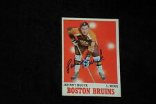 HOF JOHNNY BUCYK 1970-71 TOPPS SIGNED AUTOGRAPHED CARD #2 BRUINS
