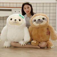 Cute Giant Sloth Stuffed Plush Soft Toys Pillow Cushion Animal Doll Kids Gifts