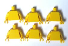 Lego 6 Torso Body For Minifigure Figure  Plain Yellow Yellow Hands