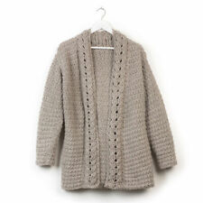 CROCHET PATTERN LADIES SLOUCH CARDIGAN WITH CABLE EDGE PATTERN 6 SIZES XS - 5XL