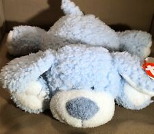 NWT TY Baby Blue & White sherpa snugger pup dog 2005 Plush Pluffies