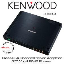 Kenwood XH401-4 - Class D 4 Channel Power Amplifier 75W x 4 RMS Power Car Amp