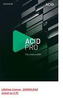 NEW ✔️ MAGIX ACID PRO 8 ✔️Windows License ✔️ Digital Download ✔️64 Bits Windows
