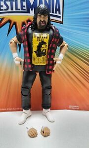 wwe mattel elite series mick foley cactus jack new out of package wrestlemania