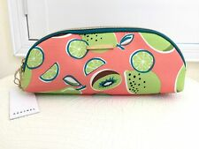 KESTREL Cosmetic Bag SINGLE ZIP CLUTCH Travel Make Up Case Fruit Pattern NEW