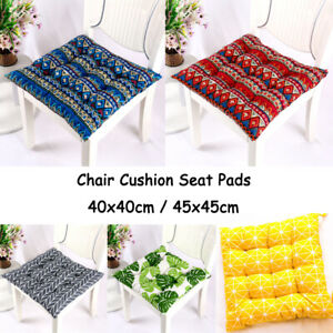 Winter Chair Seat Cushion Pads Square Flax Tatami Mats Home Office Dining