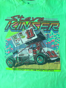 SPRINT CAR -  STEVE KINSER -  1989 VINTAGE T-SHIRT - LARGE