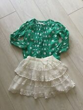 TU GIRLS BEAUTIFUL SKIRTS AND M&S TOP AGE 4-5 FAB!