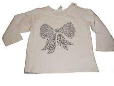 H & M tolles Langarm Shirt Gr. 68 weiß mit Schleifen Motiv !!
