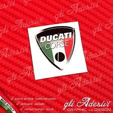 1 Adesivo Resinato Sticker 3D Ducati Corse Old Tricolore Italia 40 mm