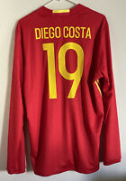 Diego Costa Spain Jersey Long Sleeve Football Soccer Chelsea Size Large