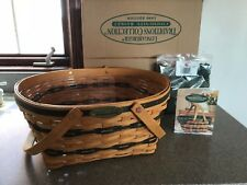 Longaberger Rare Retired 1996 Traditions Community Basket & Protector Set Liner