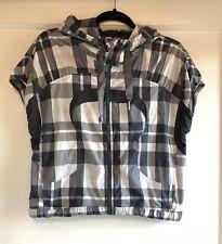 Lululemon Run With It Plaid Gray Sleeveless Zip Up Hoodie Jacket Vest Size 6