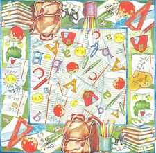 2 serviettes en papier Enfant école Decoupage Paper Napkins Child School