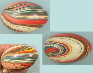 Antique Marbleized Wooden Darning Egg * England * Circa 1900s