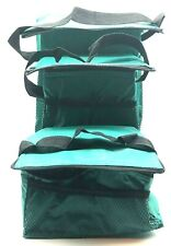 New Insulated Cooler Bag Set Reusable Grocery Lunch Bags Zipper Closure 3 Bags