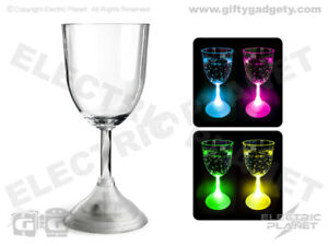 Light-Up LED Colour-Changing Wine Glass (Acrylic, Re-Usable) Gift Boxed