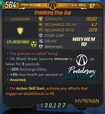 [PS4] Borderlands 3 - Lv.57 Stop Gap - M10 - Action Skill Start Shield Trigger