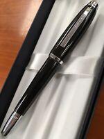 "Cross Dubai Black Lacquer With Chrome ""M"" Nib Fountain Pen"