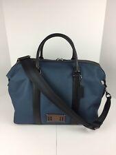 COACH F27610 Voyager Duffle Travel Gym Bag Men's Cordura Canvas Denim Blue NWT