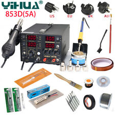 YIHUA 853D 5A 3 In1 Digital BGA Rework Soldering Station Solder Iron Hot Air Gun