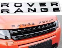 RANGE ROVER Gloss Black Letters Hood Trunk Tailgate Emblem Badge Nameplate New