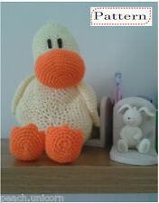 CROCHET PATTERN Duck Pillow Cushion Soft Toy Amigurumi by Peach.Unicorn